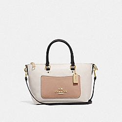 MINI EMMA SATCHEL IN COLORBLOCK - F73715 - CHALK