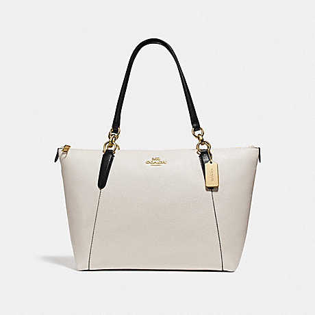 COACH F73716 AVA TOTE IN COLORBLOCK GOLD/CHALK/BLACK