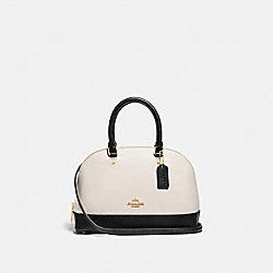 MINI SIERRA SATCHEL IN COLORBLOCK - F73717 - GOLD/CHALK/BLACK