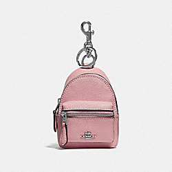 COACH F73754 - BACKPACK COIN CASE CARNATION/SILVER