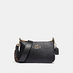 JES CROSSBODY WITH SIGNATURE CANVAS STRAP - F73792IMBLK - IM/BLACK