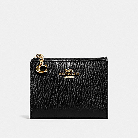 COACH F73867 SNAP CARD CASE BLACK/GOLD