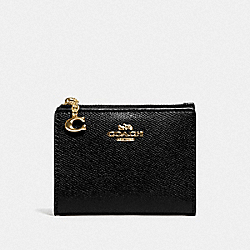 COACH F73867 - SNAP CARD CASE BLACK/GOLD