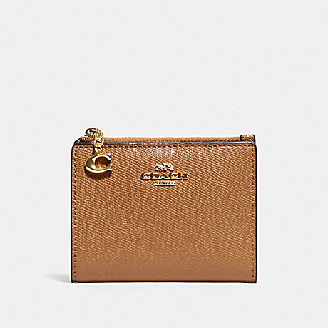 COACH F73867 SNAP CARD CASE LIGHT SADDLE/GOLD