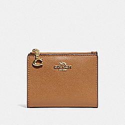 COACH F73867 - SNAP CARD CASE LIGHT SADDLE/GOLD