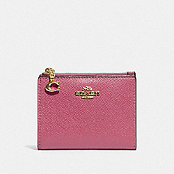 COACH F73867 - SNAP CARD CASE ROUGE/GOLD