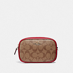 COACH F73951 Convertible Belt Bag In Signature Canvas IM/KHAKI/TRUE RED