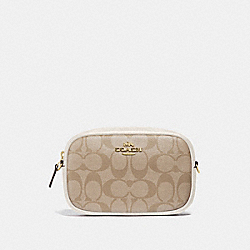 COACH F73951 - CONVERTIBLE BELT BAG IN SIGNATURE CANVAS LIGHT KHAKI/CHALK/IMITATION GOLD