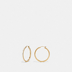COACH F73973 Hoop Earrings CHALK/GOLD