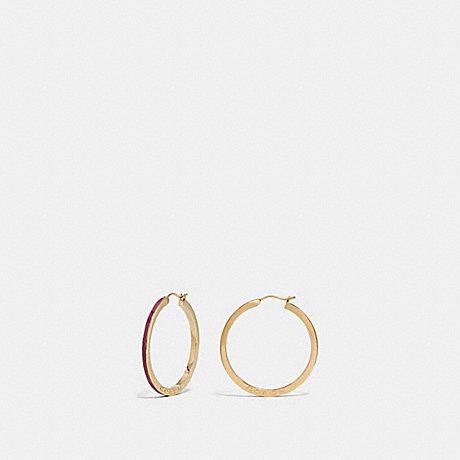 COACH F73973 HOOP EARRINGS STRAWBERRY/GOLD