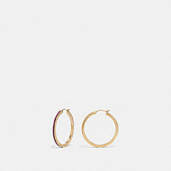 COACH F73973 - HOOP EARRINGS STRAWBERRY/GOLD