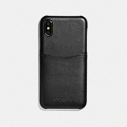 COACH F73991 Iphone X/xs Case BLACK/BLACK ANTIQUE NICKEL