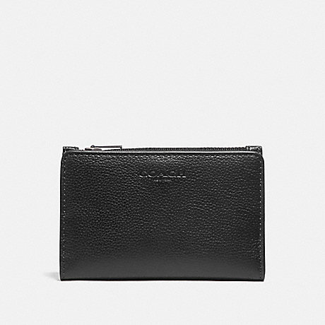 COACH F73993 SLIM BILLFOLD CARD WALLET BLACK/BLACK ANTIQUE NICKEL
