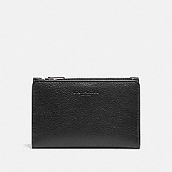 COACH F73993 Slim Billfold Card Wallet BLACK/BLACK ANTIQUE NICKEL