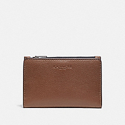 COACH F73993 - SLIM BILLFOLD CARD WALLET DARK SADDLE/BLACK ANTIQUE NICKEL