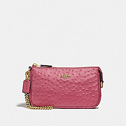 LARGE WRISTLET 19 - F73996 - ROUGE/GOLD
