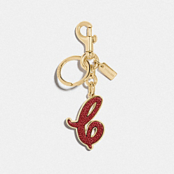 COACH F74073 - SIGNATURE BAG CHARM METALLIC ROSE/GOLD