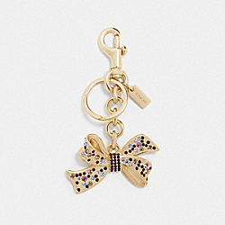 COACH F74105 Jeweled Bow Bag Charm GOLD