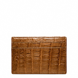 COACH F74265 Exotic Slim Card Case SADDLE