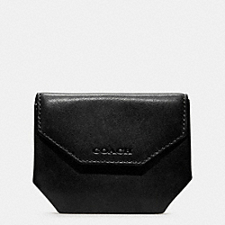 COACH F74297 - BLEECKER COIN CASE IN LEATHER BLACK
