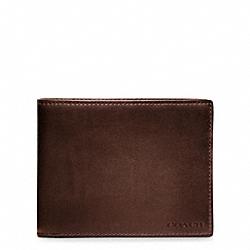COACH F74306 Bleecker  Leather Double Bill Pass Id MAHOGANY