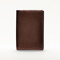 COACH BLEECKER LEGACY BIFOLD CARD CASE IN LEATHER - MAHOGANY - F74310