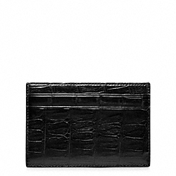 COACH F74320 Crosby Exotic Croc Slim Card Case