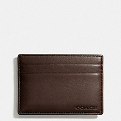COACH F74381 - BLEECKER MONEY CLIP CARD CASE MAHOGANY