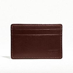 COACH F74389 Water Buffalo Slim Card Case MAHOGANY