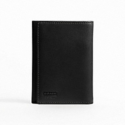 WATER BUFFALO TRIFOLD WALLET - f74394 - BLACK