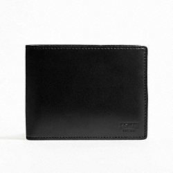 COACH F74397 Water Buffalo Passcase Id Wallet BLACK