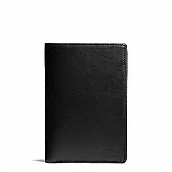 COACH F74398 Water Buffalo Passport Holder BLACK