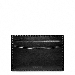 COACH F74473 Heritage Baseball Card Case BLACK/MAHOGANY