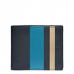 COACH F74493 Bleecker Debossed Painted Stripe Compact Id
