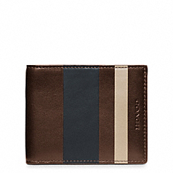 COACH F74496 Bleecker Debossed Painted Stripe Slim Billfold