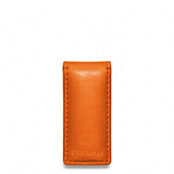 COACH F74498 Bleecker Legacy Leather Money Clip