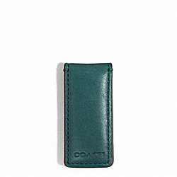 COACH F74498 Bleecker Leather Money Clip