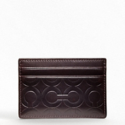 COACH F74502 Crosby Leather Logo Slim Card Case