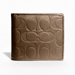 COACH F74531 Signature Embossed Coin Wallet TOBACCO