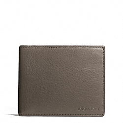 COACH F74590 Bleecker Leather Slim Billfold Id Wallet SHARKSKIN