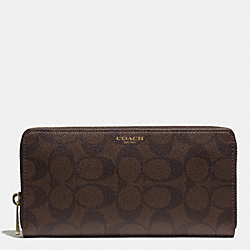 COACH F74597 Bleecker Accordion Wallet In Signature MAHOGANY/BROWN