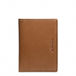 COACH F74607 Crosby Leather Slim Bifold With Id DOE/VACHETTA