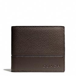 COACH F74634 Camden Leather Compact Id Wallet MAHOGANY/DARK MAHOGANYOGANY