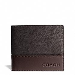 COACH F74637 Camden Leather Coin Wallet MAH/DARK MAHOGANY