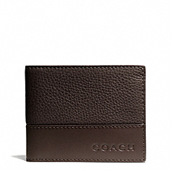COACH F74638 Camden Leather Slim Billfold MAH/DARK MAHOGANY