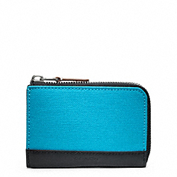 COACH F74655 Bleecker Canvas Half Zip Wallet