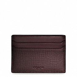 COACH F74680 Crosby Box Grain Leather Money Clip Card Case