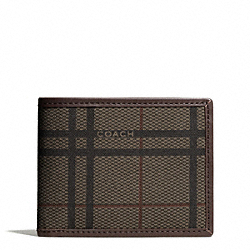 COACH F74683 Camden Tattersall Slim Billfold Wallet