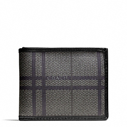 COACH F74696 Tattersall Pvc Slim Billfold Wallet