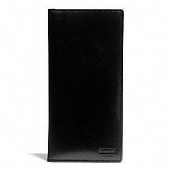 COACH F74717 Water Buffalo Slim Breast Pocket Wallet BLACK